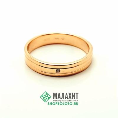 Кольцо из золота 3,15 гр. с бриллиантами, 21,5 размер
